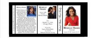 Michelle Obama First Lady history mug tri-panel.