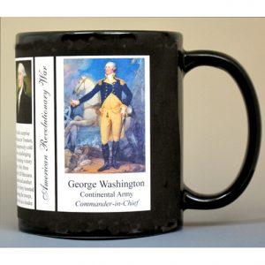 George Washington Revolutionary War history mug.