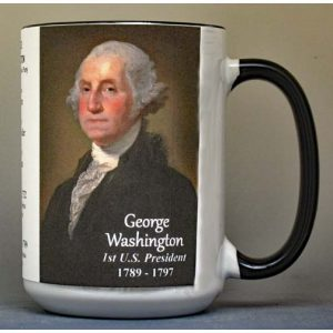 US President George Washington history mug.
