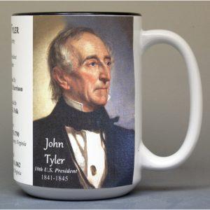 U.S. President John Tyler history mug.