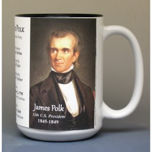 James Polk, US President biographical history mug.