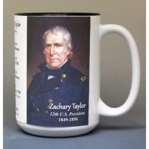 Zachary Taylor, US President biographical history mug.