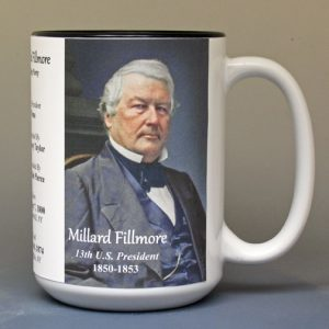 Millard Fillmore, US President biographical history mug.