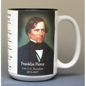 Franklin Pierce, US President biographical history mug.