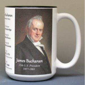James Buchanan, US President biographical history mug.