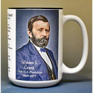 Ulysses S. Grant, US President biographical history mug.