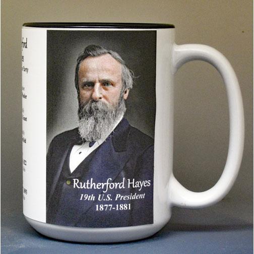 Rutherford B. Hayes, US President biographical history mug.