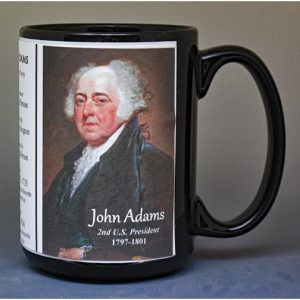 John Adams, US President biographical history mug.