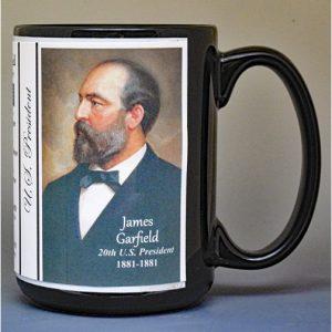 James Garfield, 20th US President biographical history mug.