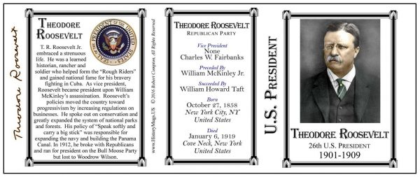 26-Roosevelt, Theodore- Tri-Panel-SEAL