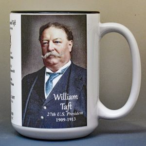 William H. Taft, US President biographical history mug.