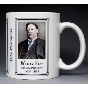 27th US President William Howard Taft history mug.