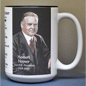 Herbert Hoover, US President biographical history mug.