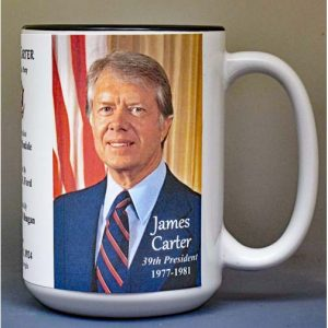 Jimmy Carter, US President biographical history mug.
