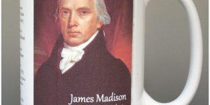 James Madison, US President biographical history mug.