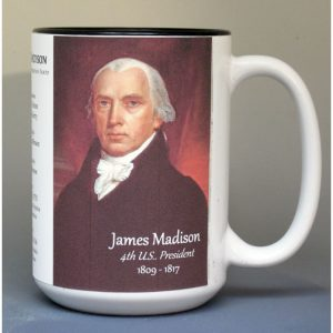 James Madison, US President biographical history mug.