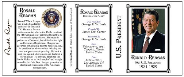 40-Reagan, Ronald- Tri-Panel-SEAL
