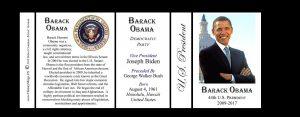 44th US President Barack Obama history mug tri-panel.