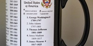 All 46 US Presidents history mug.