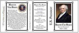 8th US President Martin Van Buren history mug tri-panel.