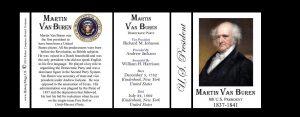 U.S. President Martin Van Buren history mug tri-panel.