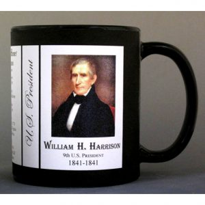 U.S. President William Henry Harrison history mug.