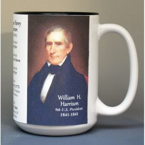 William Henry Harrison, US President biographical history mug.
