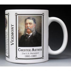 Chester Arthur Vermont history mug.