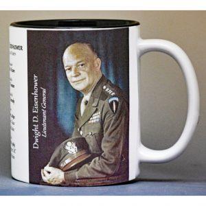 Dwight D. Eisenhower US President history mug.