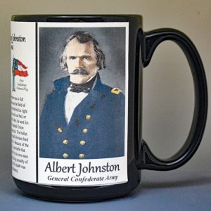 Albert Sidney Johnston, Confederate Army, US Civil War biographical history mug.