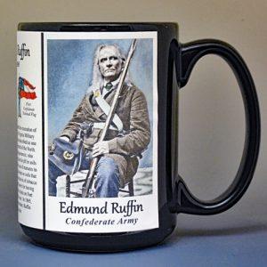 Edmund Ruffin, Confederate Army, US Civil War biographical history mug.