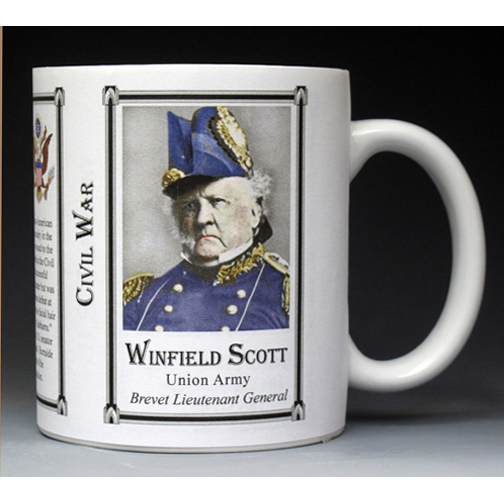 Winfield Scott Civil War Union Army history mug.