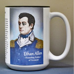 Ethan Allen, Vermont history biographical mug.
