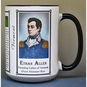 Ethan Allen, Vermont history biographical mug.