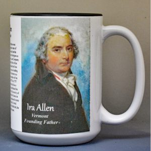Ira Allen, Vermont history biographical mug.
