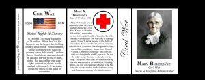 Mary Bickerdyke Civil War Union civilian history mug tri-panel.