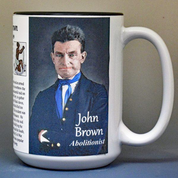 John Brown, Civil War abolitionist biographical history mug.