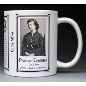Pauline Cushman Civil War Union civilian history mug.