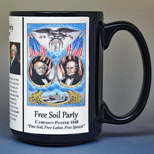 Free Soil Party, Civil War Union biographical history mug.