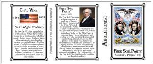 Free Soil Party Civil War Union history mug tri-panel.