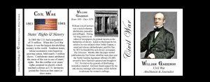 William Lloyd Garrison Civil War Union civilian history mug tri-panel.
