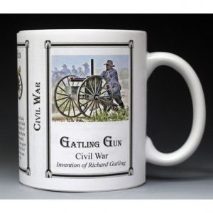 Gatling Gun Civil War Union history mug.