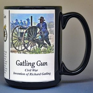 Gatling Gun, US Civil War history mug.