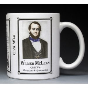 Wilmer McLean Civil War Confederate civilian history mug.