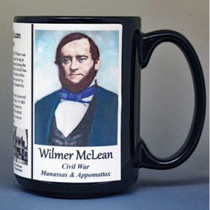 Wilmer McLean, Civil War Confederate civilian biographical history mug.