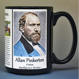 Allan Pinkerton, Civil War Union intelligence service biographical history mug.