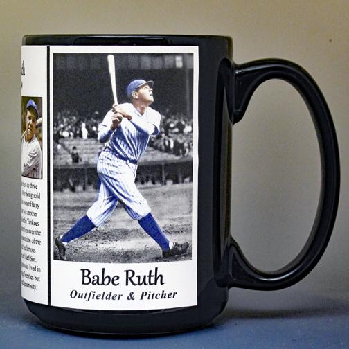 Babe Ruth baseball biographical history mug.