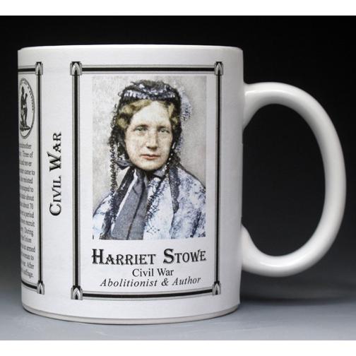 Harriet Beecher Stowe Civil War Union civilian history mug.