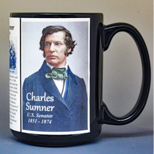 Charles Sumner, U.S. Senator biographical history mug.
