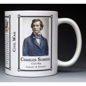 Charles Sumner Civil War Union civilian history mug.